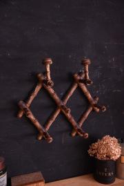 アンティーク 木製 コート フック バンブー ペイント フレンチ