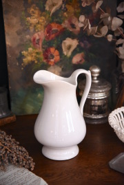 アンティーク 白陶器 水差し ベルギー