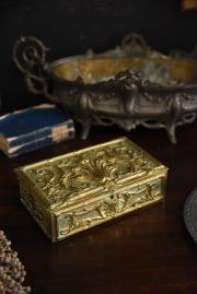 ゴールドボックス 宝箱 アクセサリーボックス フランス アンティーク