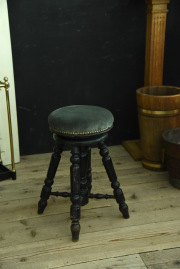 ピアノスツール 椅子 張り替え フランス アンティーク