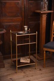 アンティーク モダン ミッドセンチュリー ガラストップテーブル 真鍮
