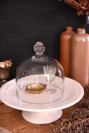 アンティーク ガラス ケーキドーム フレンチ