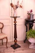アンティーク 花台 フラワースタンド フレンチ コラム 木製
