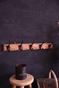 アンティーク 木製 コートフック 5連フック フレンチ