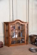 アンティーク ウォールキャビネット フレンチ 木製 ディスプレイ