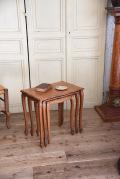 アンティーク 猫脚 ネストテーブル フレンチ サイドテーブル