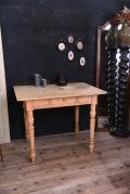 アンティーク 木製 ドロワー テーブル ダイニング フレンチ 剥離
