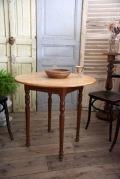 アンティーク フレンチ ラウンド テーブル 木製 カフェ