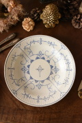 アンティーク 陶器 サクソニー模様 皿