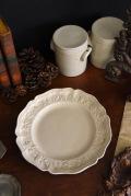 アンティーク ポントシュー 皿 プレート 18世紀
