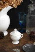 アンティーク  カップ  蓋付き  陶器カップ  フランス