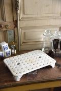 アンティーク  水切り器  陶器  フランス