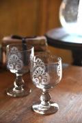 アンティーク  ワイングラス  フレンチ  ガラス