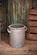アンティーク 陶器ポット大 灰色