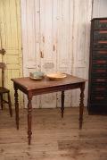 アンティーク 木製 スクエア テーブル フレンチ