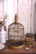 アンティーク  バードゲージ  鳥かご  ブラス  フランス
