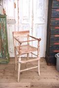 アンティーク ベビーチェア 木製 座面竹