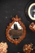 アンティーク 木製ウォールミラー ロカイユ・アラベスク模様