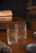 アンティーク 計量カップ グラス 大小2個セット