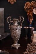 アンティーク 花瓶 フレンチ フラワーベース シルバープレート