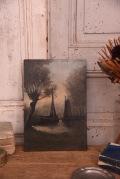 風景画 油絵 絵画 フランス アンティーク