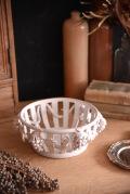 アンティーク フレンチ 陶器 バスケット