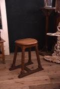 アンティーク 木製 スツール オーク材 フランス