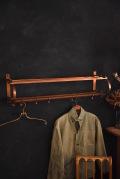 アンティーク ブラス ウォールラック コートフック 真鍮