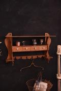 アンティーク ドロワー ウォールラック フレンチ 木製