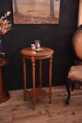 アンティーク ラウンド サイドテーブル フレンチ 木製