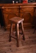 アンティーク 木製 バースツール ハイチェア フランス