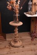 アンティーク フレンチ 花台 ラウンド サイドテーブル