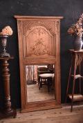 木製 ミラー 装飾 剥離 フランス アンティーク