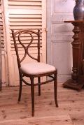 カフェ チェア 木製 布張り フランス アンティーク