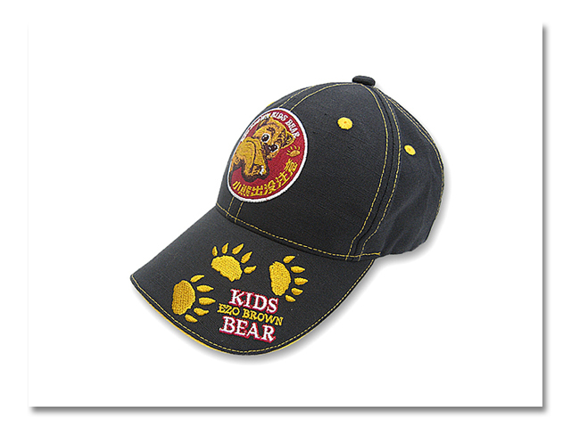 Jr帽子 小熊出没'08 黒