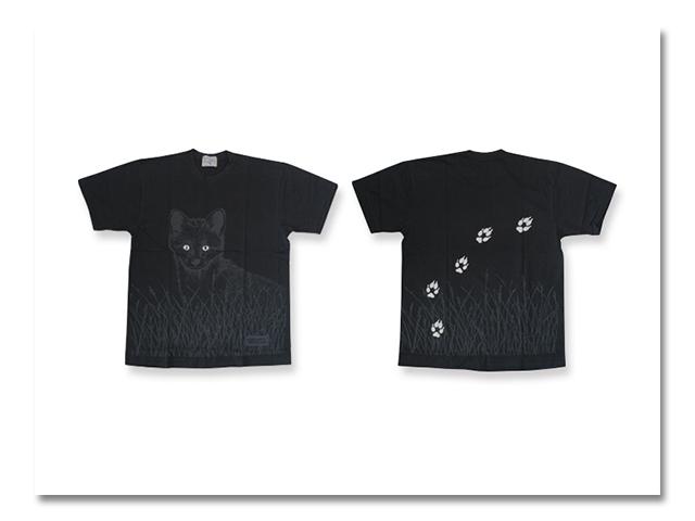 Tシャツ カラー 夜 北キツネ