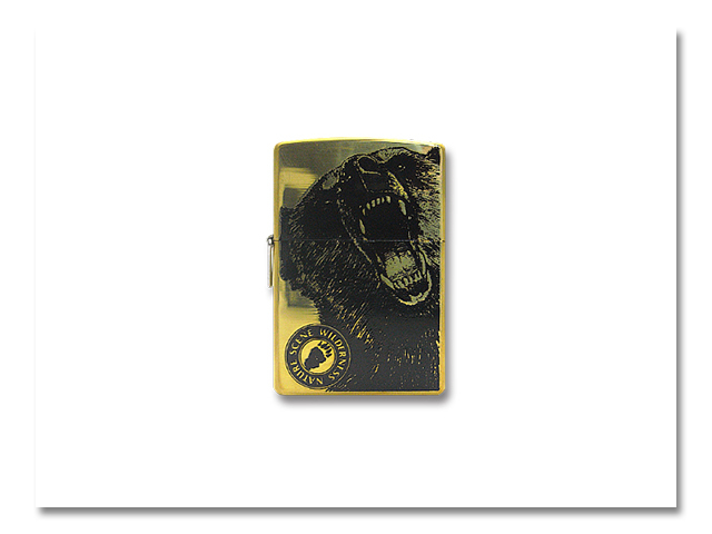 Zippo 熊出没 2001 顔 -スミ-