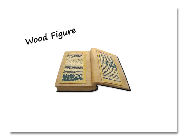 小熊出没 WOOD BOOKS 片開き