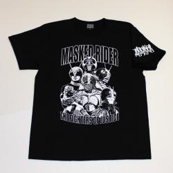 仮面ライダー「7人ライダー」Tシャツ(ブラック)