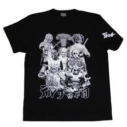 【DM便可仮面ライダーストロンガ—「デルザー軍団」Tシャツ(ブラック)