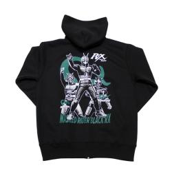 仮面ライダーBLACK RX「ポーズ」ジップアップパーカー(ブラック)