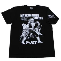 仮面ライダースーパー1(Vジェット)Tシャツ(ブラック)