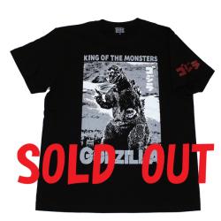 ゴジラ「54ポスター」Tシャツ(ブラック)
