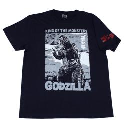 ゴジラ「54ポスター」Tシャツ(ネイビー)