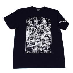 仮面ライダー「昭和ライダー大集合」Tシャツ(ネイビー)