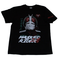 仮面ライダー「二号ライダーフェイス」Tシャツ(ブラック)