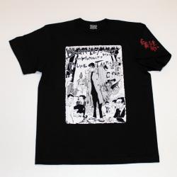 「仁義なき戦い」頂上作戦イラストS/STシャツ(ブラック)