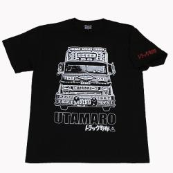 トラック野郎(宮崎靖男フォト)Tシャツ(ブラック)