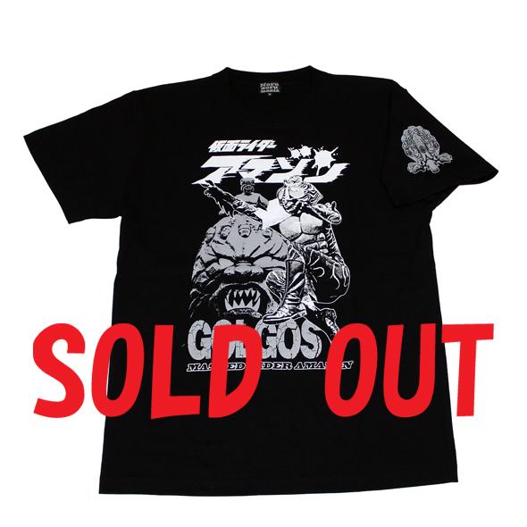 仮面ライダーアマゾン「ゴルゴス」Tシャツ(ブラック)