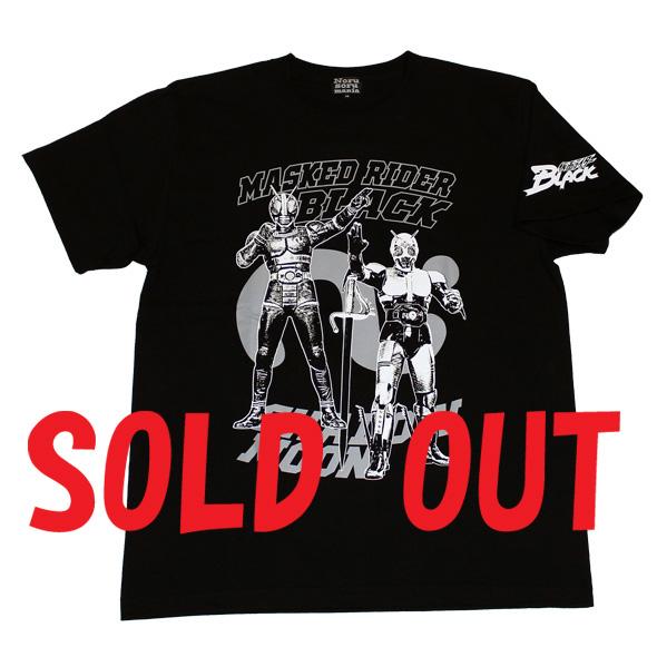 仮面ライダーBLACK「ブラック&シャドームーン」Tシャツ(ブラック)